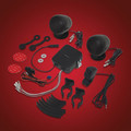 Black Handlebar Mount Stereo Sound System