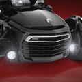 "3 1/2"" FOCUS Black LED Kit Can-Am Spyder F3 - Installed, Lit"