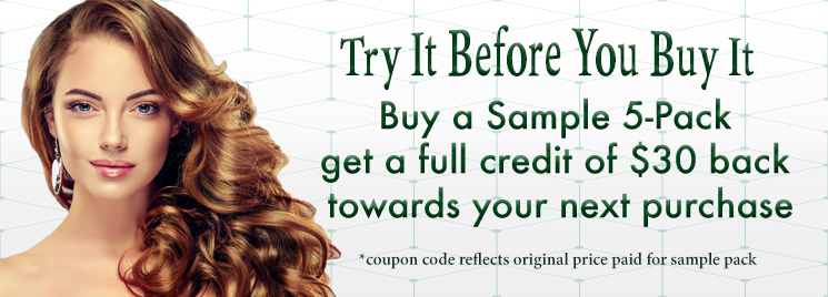 Try It Before You Buy It - Buy 5 Designer Samples & Get A Full Credit Back When You Buy Any Larger Size
