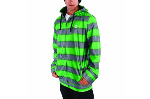Green Heather Stripe