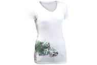 Line V-Neck Ski Art Women's Tshirt 2013