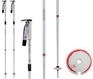 Line Pollard's Paint Brush Adjustable Ski Poles 2018