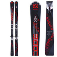 Volkl Code X Red Skis + vMotion3 Bindings 2018