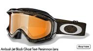 Oakley Ambush, Jet Black Ghost Text- Persimmons Lens