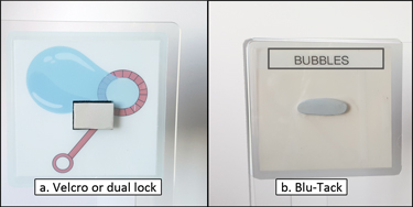 Attaching the Laminated Symbols Using Velcro or Dual Lock