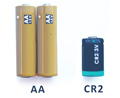 2 AA Batteries & a Lithium CR2 battery