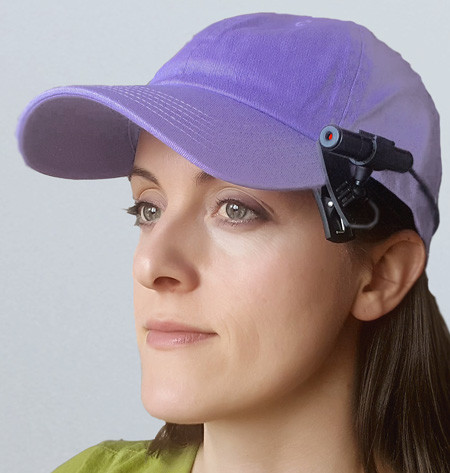 Clip on Laser Attached to Baseball Cap