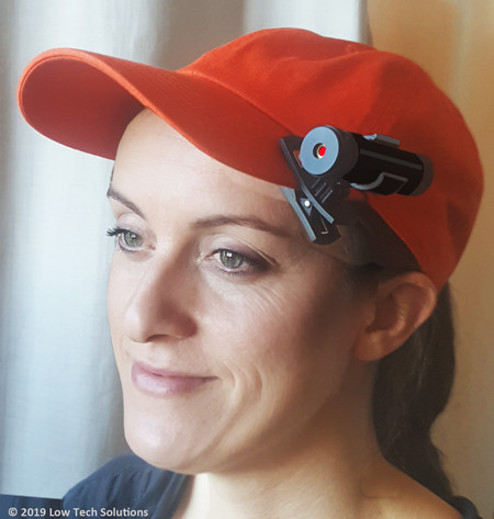 Wireless Laser attached to baseball cap. (Cap not included)