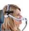 Wireless laser clipped to a breathing mask.