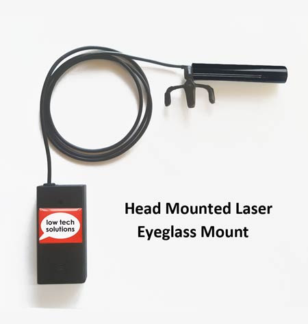 Eyeglass Mounted Laser