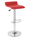 Ale Leatherette Bar Stool in Red