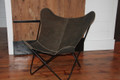 Dark Brown Leather Butterfly Chair Cover