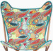 Printed Kantha Cotton Butterfly Chair Cover