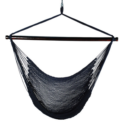 Navy Caribbean Hanging Rope Chair