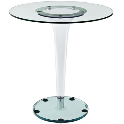 "Round Tempered Glass 27"" Dining Table"