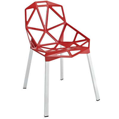 Contemporary Connections Red Aluminum Dining Side Chair