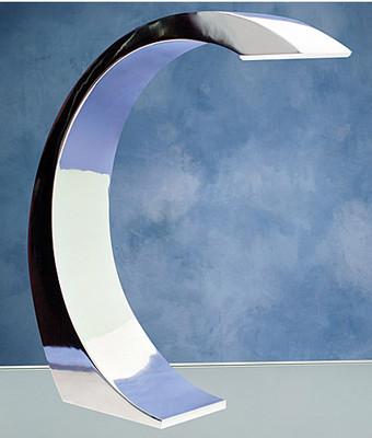 Curved Arc Chrome Element Desk Lamp