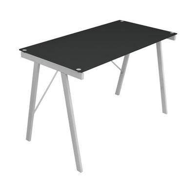 Black Glass Top Office Desk