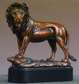 "Lion Bronze Plated Resin Sculpture 8.5"" Tall"