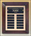 "12"" x 15"" (12 Plate) Cherry Wood Hand Rubbed Finish Perpetual Plaque"