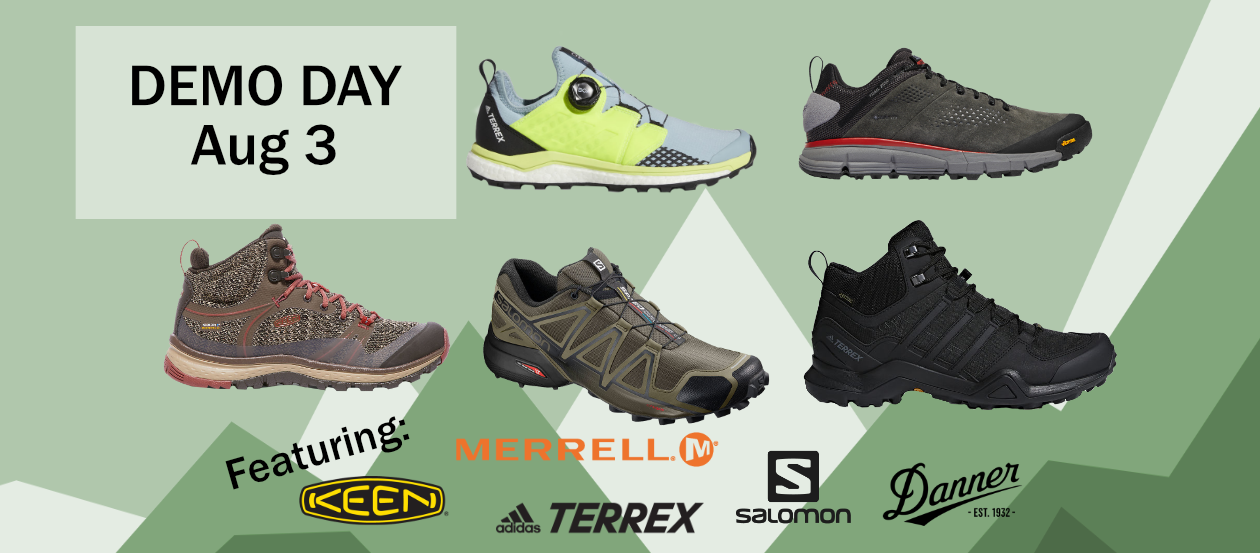 Hiking & Trail Shoe Demo Day Banner