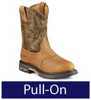 Pull-On Work Boots