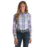 Wrangler Women's Plaid Blouse Pink/Blue