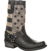 Durango Men's Faded Flag Harness Western Boot - Brown