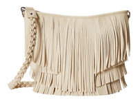 Blazin Roxx Western Womens Hobo Bag Large Fringe Purse Ivory