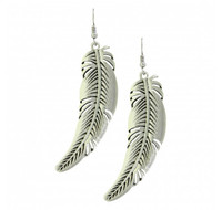 Montana Silversmiths Antiqued Curved Feather Earrings Attitude Jewelry