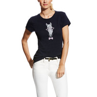 Ariat Women's Haberdashery Tee Top - Navy