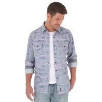 Wrangler Men's Retro SouthWest Long Sleeves Shirt