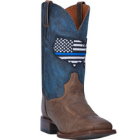 Laredo Mens Thin Blue Line Leather Boot