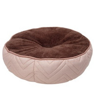 DogIt DreamWell Round Bed - Beige/Brown