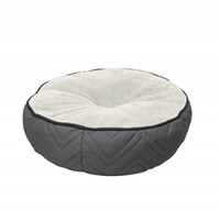 DogIt DreamWell Round Bed - Gray/White
