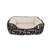 DogIt DreamWell Cuddle Bed - Woof Black