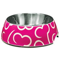 Pink Bones & Stainless Bowl