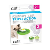 Triple Action Fountain Filter 2 pack