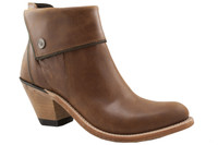 Tan Zip Boot with Zip Accent