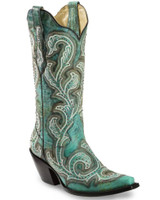 Corral Turquoise Shaded Boot
