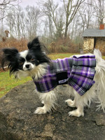 SnugPup Purple Splash Fleece Coat with Skirt