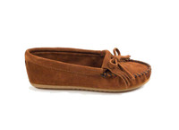 Minnetonka Womens Kilty Hardsole Moccasins - Brown