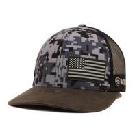 Ariat Black Camo Logo Flag Cap