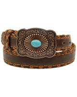 Ariat Womens Cross Stitch Lacing Brown Belt