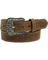 Ariat Womens Brown Belt With Engraved Buckle