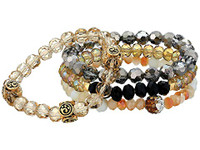 Blazin Roxx Multi-Clored Beaded Bracelet 4pcs Set