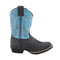 Nocona Kids Fynn Black and Blue Kids Western Boot