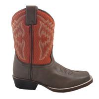 Nocona Kids Fynn Chocolate/Orange Western Boot