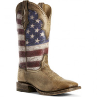 Ariat Mens Ranchero Stars and Stripes Western Boots