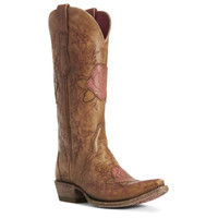 Ariat Womens Rosalind Brown with Roses Western Boot